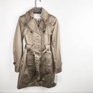 Jessica Simpson Taupe Lined Buttoned Trenchcoat